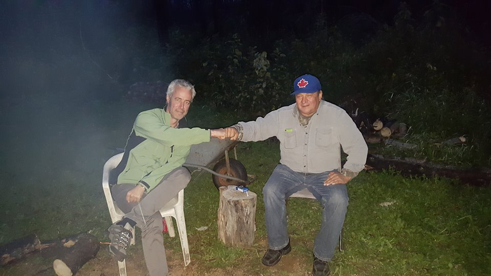 Meeting around the campfire with Métis elder Bill Loutitt